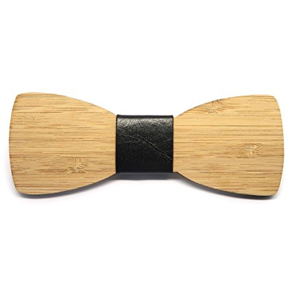 Pajarita de madera de bambú