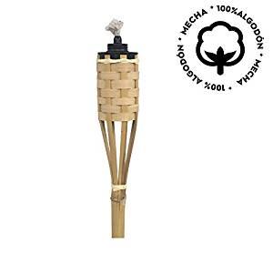 antorchas para jardín de bambú