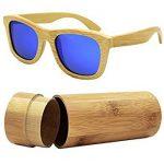 Gafas de sol de bambú polarizadas con funda de madera