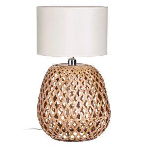Lámpara bambú de sobremesa