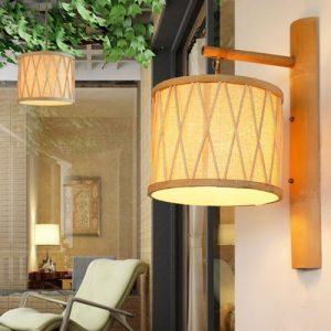 lampara bambu para pared