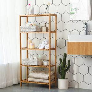 estanteria baño bambú