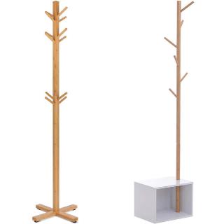 Percheros de madera de bambu