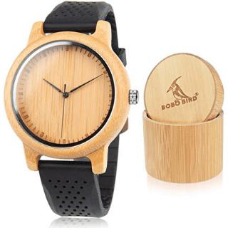 Reloj de bambu