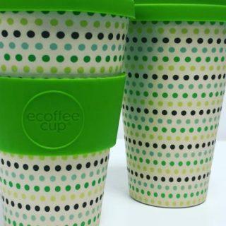 Ecoffee Cup Lunares Verde