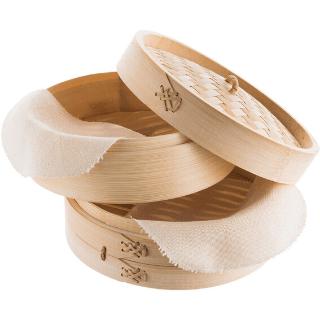 Vaporera de bambú para cocción al vapor
