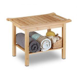 estanteria baño / banco de bambú