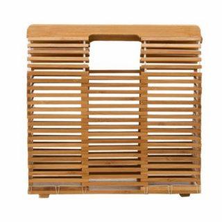 Bolsos de bambú cuadrados