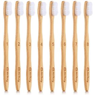 Cepillos de dientes de bambú ecológicos y compostables