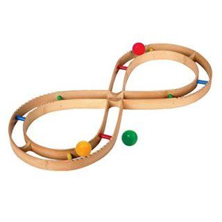 Juguetes de bambu. Pista de motricidad con forma de 8
