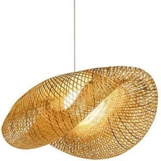 lámpara de bambú para techo