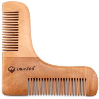 Peine para barba de bambu