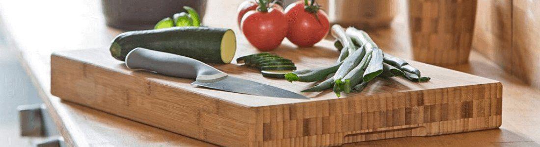 tabla de cortar de madera de bambu